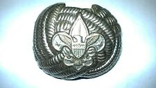 Vintage USA BOY SCOUTS OF AMERICA METALBSA SCOUT NECKERCHIEF WOGGLE SCARF SLIDE
