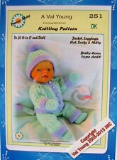 DOLLS KNITTING PATTERN no. 251 for BABYBORN or similar doll.by Daisy-May.