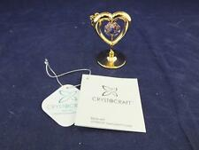 Crystocraft Free Standing Mini Love Heart  with Strass Swarovski Crystal.