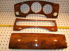Jaguar 2000 XJR Supercharged sedan US Front  Dash WOOD OEM 1 set of 3 Covers