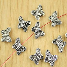 50pcs Tibetan silver butterfly spacer beads H2711