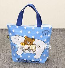 Rilakkuma san-x big sheep blue handbag tote lunch bag storage bags L161 tote NEW