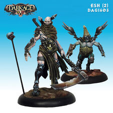 Dark Age Esh The Angel of Judgement and Zephon miniature 35mm new
