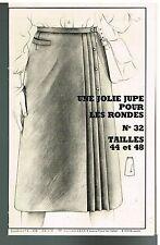 """Patron de Couture """"Femmes d'Aujourd'hui"""" N°32 Une Jupe pour les rondes T44 et 48"""