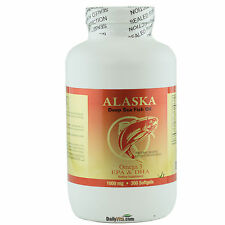 Alaska Deep Sea Omega-3 Fish Oil 300 Softgels, EPA DHA, Fresh, Free Shipping