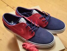 Nike Zoom Stefan Janoski Sz 10 Deep Royal Blue University Red QS SB NIB