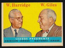 1958 Topps Baseball #300 Warren Giles/ William Harridge (Presidents) *HOFers