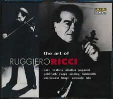 The Art Of Ruggiero Ricci CD NEW 5-disc Bach Brahms Sibelius