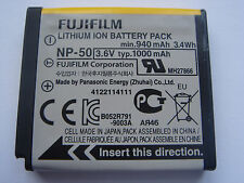 Batterie D'ORIGINE FUJIFILM NP-50 NP50 3.6V 1000mAh GENUINE ORIGINAL Battery