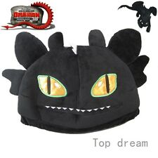 New How to Train Your Dragon Night Fury Toothless Soft Plush Cap Cosplay Hat