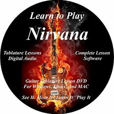 Nirvana Guitar TABS Lesson CD 146 Songs + Backing Tracks + BONUS!