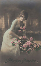 Anne Awoke To Find Her Neighbor Stealing Roses From The Garden Antique Postcard