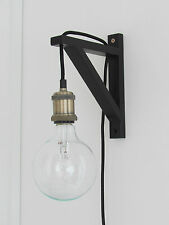 Industrial Adjustable Wall Lamp Light - 3m Antique Brass - UK plug + Bracket