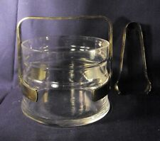 Mid century Modern rock royal crystal ice bucket silver plate fittings P