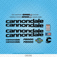 Cannondale F2000 Bicycle Decals - Transfers - Stickers - Black - Set 0638