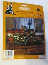 "New Halloween Skeleton Couch or Door cover plastic 30"" x 60"" living room decor"