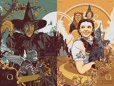 Vincent Aseo Wizard Of Oz Art Print Set Mondo Screen Printed Poster Durieux Tong