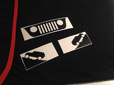Jeep Windshield Replacement Grill Decals Stickers Wrangler JK (buy 2 get 3!)