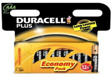 12 DURACELL Plus AAA MN2400 LR03 Batteries 1.5V ALKALINE 1 PACK 12 (8+4)
