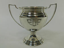 Antique Vintage Sterling Silver Trophy 164 Grams ELF Monogramed Riding Nice H75