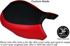 BLACK & RED VINYL CUSTOM FITS BMW R 1200 GS 2013-2015 FRONT SEAT COVER ONLY