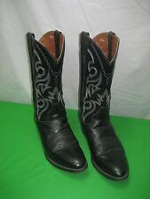 Dan Post DP2110R Black Cowboy Western Boots 11 EW Leather