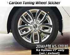 "Carbon Tuning Wheel Mask Sticker For Kia K5 ; Optima 17"" [2014]"