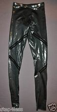 New adult  Small Dark Silver metallic  costume jazz legging pants with zippers