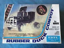 VTG 1978 RUBBER DUCK CONVOY TRUCK SEMI CAB ERTL # 8036 1/25 PLASTIC MODEL W/ BOX