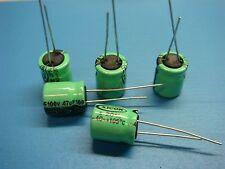 (5) XICON HTRL100V47 100V 47uF 105°C HIGH TEMP RADIAL ELECTROLYTIC CAPACITOR