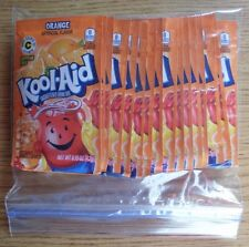 20 packets of KOOL-AID drink mix: ORANGE flavor, powdered, UNSWEETENED, beverage