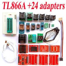 TL866A programmer +24 adapters TL866 AVR PIC Bios 51 MCU Flash EPROM Programmer