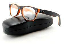 New Ray-Ban RB5184 5160 Rx Eyeglasses | Havana on Orange Frame with Demo Lens