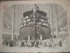 Launch of the HMS Royal Albert 1854 print