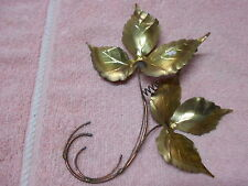 Brass Leaf Leaves Plaques Vintage Home Interiors