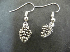 Tree Cone tibetan silver earrings