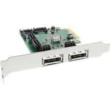 InLine PCI-Express Karte - 4x SATA 6Gb/s, RAID 0,1,10, JBOD + 2x eSATA