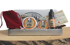 Beard Grooming Gift Set, Mustache Wax,Beard Balm, Oil,Comb - Sweet Orange Scent