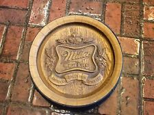 Vintage MILLER LITE BEER HALF BARREL SIGN BEER MANCAVE BAR POOL ROOM Garage