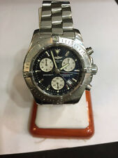 Breitling Colt Chronograph Watch Quartz A73380 Steel Black Dial Pilot Diver