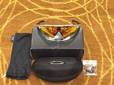 Oakley OO9275-02 Radar EV Path Asian Fit, Silver / Fire Iridium Sunglasses