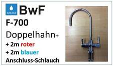 BFW F-700 +Schlauch Blau/Rot UMKEHR OSMOSE WASSERHAHN UMKEHROSMOSE SILBER FAUCET