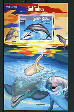 Guinea-Bissau 2015 MNH Dolphins 1v S/S Marine Animals Spinner Dolphin