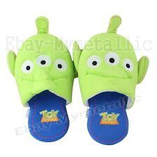Disney Toy Story Little Green Men Alien Thin Soft Plush Slipper One Pair