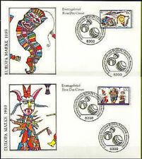 BRD 1989: i bambini giochi! FDC del N. 1417+1418 con Bonner speciale timbri! 1a!