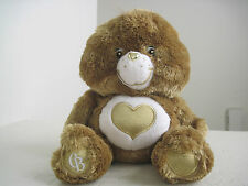 "Care Bears HEART OF GOLD SWAROVSKI CRYSTAL EYES RARE 12"" Plush Stuffed Animal"