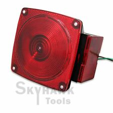 """4.5"""" x 4.5"""" Trailer Light Stop Turn Tail Light Taillight Square Red 6 Function"""