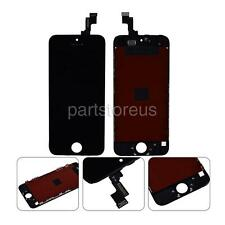 Black Front Glass LCD Display Touch Screen Digitizer +Frame For iPhone 5S