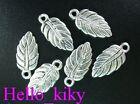 150 pcs Tibetan silver small leaf drops A125