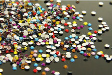 "DIY New 800pcs 4mm Facets Resin Rhinestone Gems Flat Back Crystal beads Mix  ""C5"